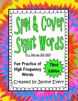 Fry 201-300 - Spin & Cover Sight Words