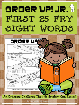 Sight Words, Fry's First 25 - Order Up! Jr.
