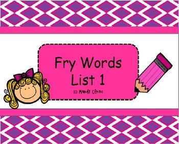 Sight Words- Fry List 1