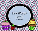 Sight Words - Frye List 2
