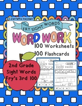 Sight Words Fry's 3rd 100 Second Grade Word Work