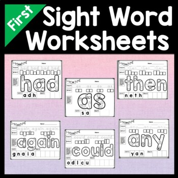 Sight Words First Grade {41 Practice Pages!}