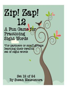 Sight Words Fun Game:  Zip! Zap! 12