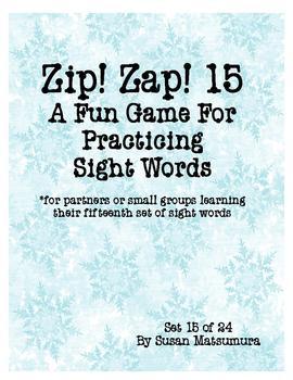 Sight Words Fun Game: Zip! Zap! 15