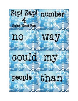 Sight Words Fun Game: Zip! Zap! 4