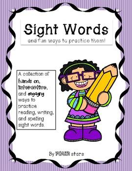 Sight Words - Fun Ways to Practice