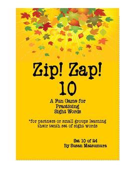 Sight Words Fun: Zip! Zap! 10