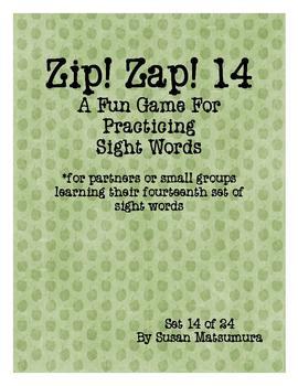 Sight Words Fun: Zip! Zap! 14