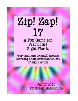 Sight Words Fun: Zip! Zap! 17