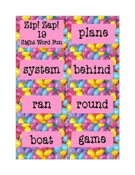 Sight Words Fun: Zip! Zap! 19