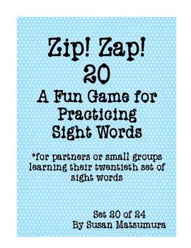 Sight Words Fun: Zip! Zap! 20