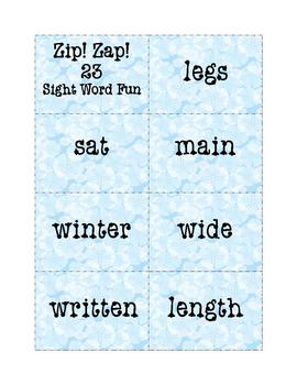 Sight Words Fun: Zip! Zap! 23