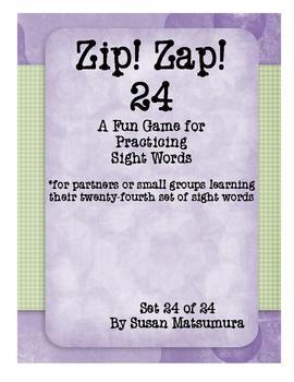 Sight Words Fun:  Zip Zap! 24