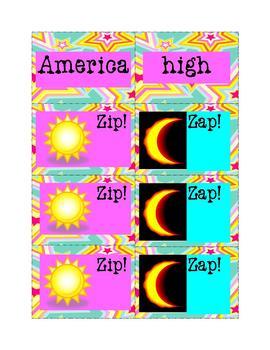 Sight Words Fun: Zip! Zap! 8