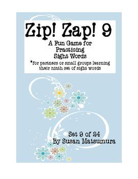 Sight Words Fun:  Zip! Zap! 9