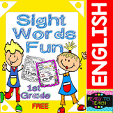 Sight Words Fun in First Grade FREEBIE (B&W and Color)