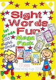 Sight Words Fun in First Grade Mega Pack (100 words - B&W and color version)