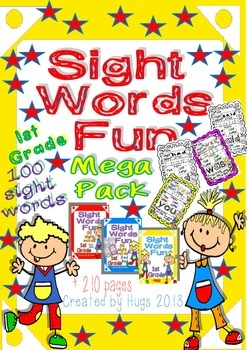 Sight Words Fun in First Grade Mega Pack (100 words - B&W