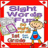 Sight Words Fun in First Grade Set 1 (50 words - B&W and color version)