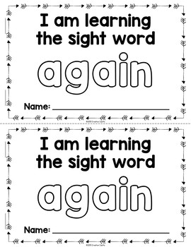 Sight Word Practice with Interactive Books