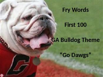 Sight Words Ga Bulldogs