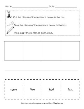 Sight Word Sentence Scramble AND Sight Word BINGO Bundle. 90 Pages of fun!