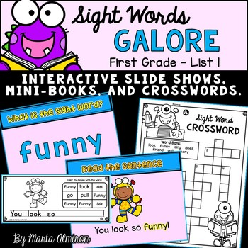 Sight Words Galore - FIRST GRADE LIST 1 {Includes Digital Resource}