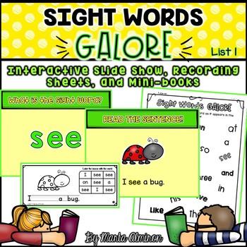 Sight Words Galore - LIST 1 {Includes Slide Show}