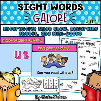 Sight Words Galore - List 4