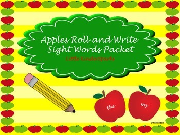 Pre-Primer Sight Words: Apples Roll and Write!