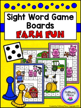 Sight Words Game Boards: Farm Fun
