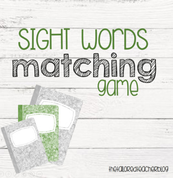 Sight Words Game Cards