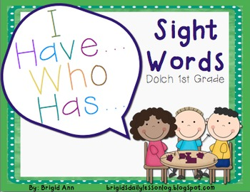 Sight Words Game / I have, Who has / First Grade