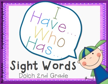 Sight Words Game / I have, Who has / Second Grade
