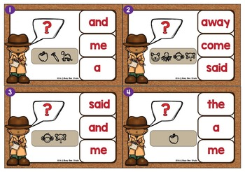 Sight Words Game: Let's Break the Code (Dolch Pre-Primer Words)