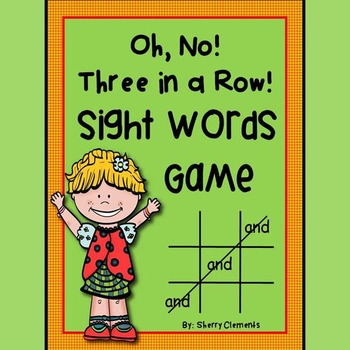 Sight Words Game: Oh, No! Three in a Row! (Set 1) Pre-primer