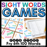 Sight Words Game: Pair Stare Fry Sixth Hundred