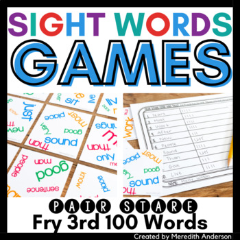 Sight Words Game: Pair Stare Fry Third Hundred