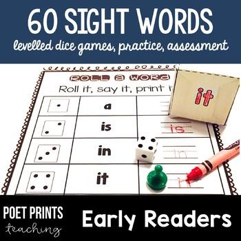 Sight Word Games, Literacy Center, Kindergarten and First Grade