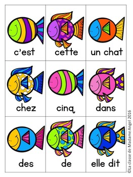 Sight Word Games in French with an Ocean theme