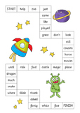 Sight Words Games with a space theme