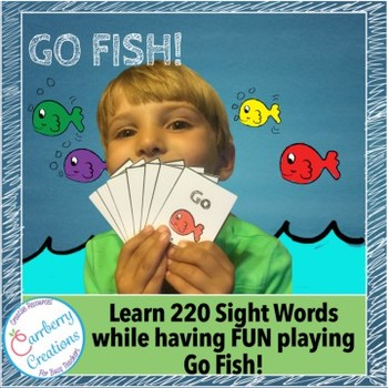 Sight Words Game : Go Fish   220 Dolch Words!