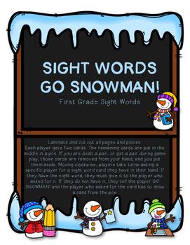 Sight Words...Go SNOWMAN!!!