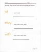 Sight Words Grade 1 study guide- as, with, his, I, they