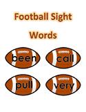Sight Words Grade 2 - Football