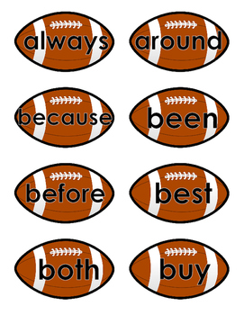 Sight Words Grade 2 - Football