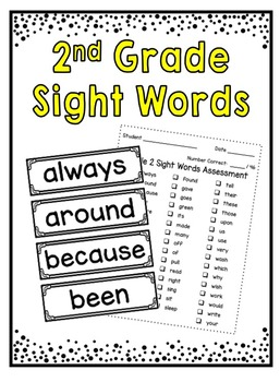 Sight Words ~ Grade 2 Word Wall Cards and Assessment