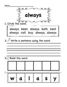Sight Words-Grade Two