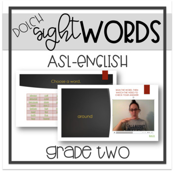 Sight Words - Grade Two