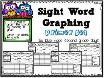 Sight Word Graphing Primer Level